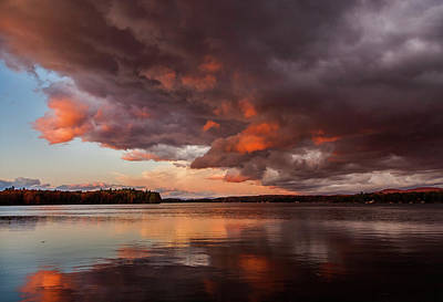 Photograph - Winnisquam Sunset by Benjamin Dahl