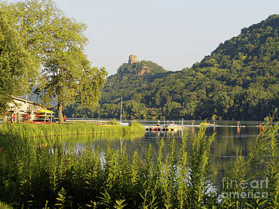 Photograph - Winona Mn Photo Summer Evening With Sugarloaf by Kari Yearous