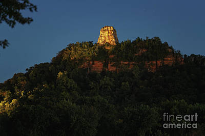 Photograph - Winona Mn Sugarloaf Night With Branch by Kari Yearous