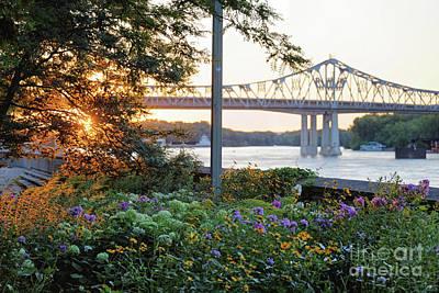 Photograph - Winona Mn Sunset At Levee by Kari Yearous