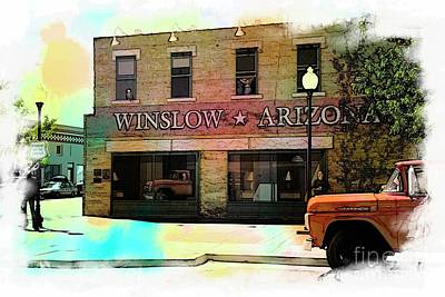 Mixed Media - Winslow Arizona Usa by Bob Pardue