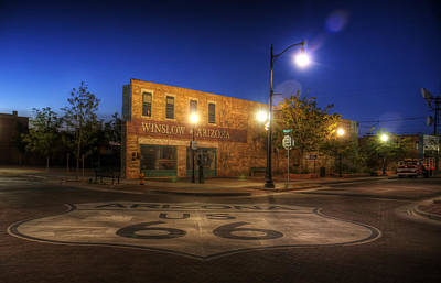 Route 66 Photograph - Winslow Corner by Wayne Stadler