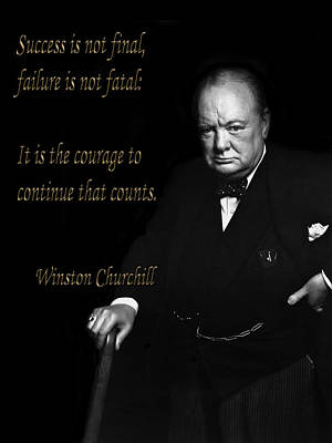 Photograph - Winston Churchill 1 by Andrew Fare