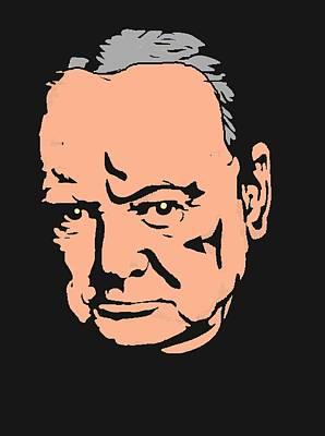 Statesman Mixed Media - Winston Churchill-2 by Otis Porritt
