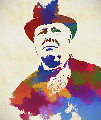 Painting - Winston Churchill by Dan Sproul