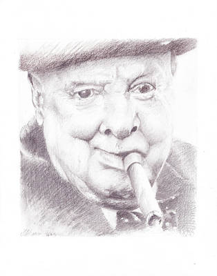 Stiff Drawing - Winston Churchill by James Ath