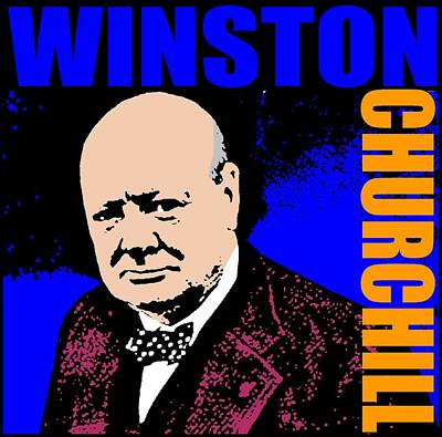 Statesman Mixed Media - Winston Churchill by Otis Porritt