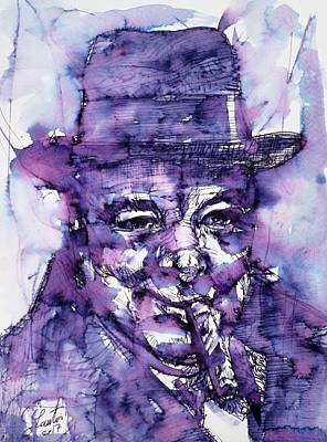 Painting - Winston Churchill - Portrait.7 by Fabrizio Cassetta