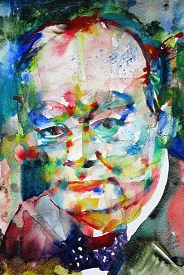 Painting - Winston Churchill - Portrait.8 by Fabrizio Cassetta