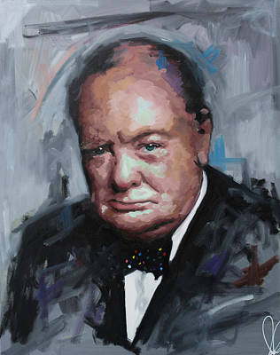 Painting - Winston Churchill by Richard Day