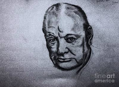 Drawing - Winston Churchill  by Robert Monk