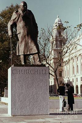 Winston Churchill Statue Art Print by Granger