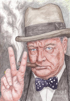 Winston Churcill Prime Minister Of The United Kingdom Original by Northern Wolf