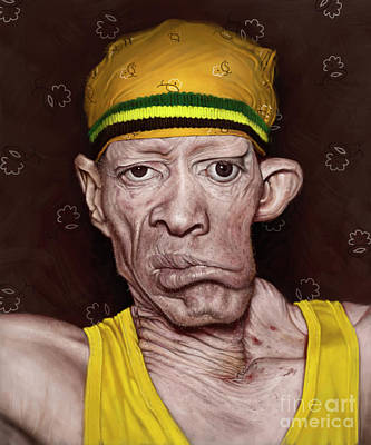 Digital Art - Winston Foster - Yellowman by Andre Koekemoer