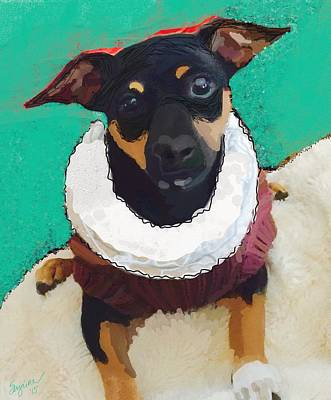 Puppies Mixed Media - Winston by Suzaine Smith