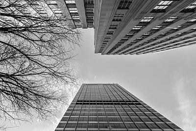 Sean Rights Managed Images - Winston Tower and RJR Tower Royalty-Free Image by Bryan Pollard