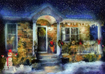 Photograph - Winter - Christmas - Dressed Up For The Holidays  by Mike Savad