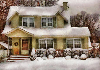 Photograph - Winter - Christmas - One Cold Winter's Morning by Mike Savad