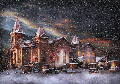 Photograph - Winter - Clinton Nj - Silent Night  by Mike Savad