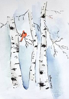 Painting - Winter #2 by Maria Langgle