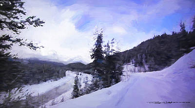 Digital Art - Winter 2 by Roger Lighterness