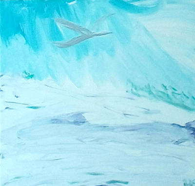 Wall Art - Painting - Winter Abstract by Helen Krummenacker