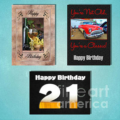 Digital Art - Winter Adult Birthday by JH Designs