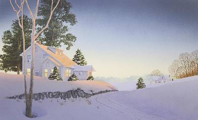 Painting - Winter Afterglow by C Robert Follett