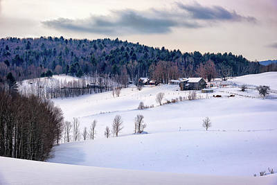 Photograph - Winter Afternoon In New England by Rick Berk