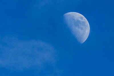 Photograph - Winter Afternoon Moon by Joni Eskridge