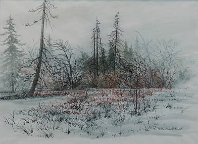 Painting - Winter, Alberta by E Colin Williams ARCA