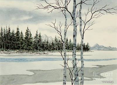 Painting - Winter Alders by Frank Townsley