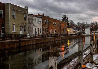 Winter Along The Canal Art Print