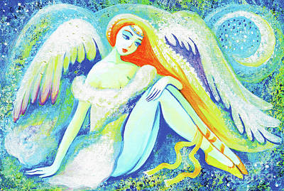 Painting - Winter Angel by Eva Campbell