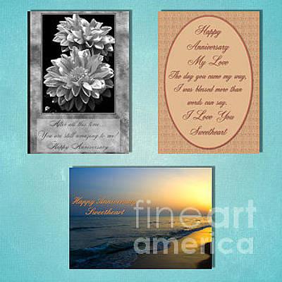 Digital Art - Winter Anniversary by JH Designs