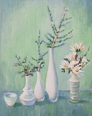 Painting - Winter Arrangement by Fran Steinmark