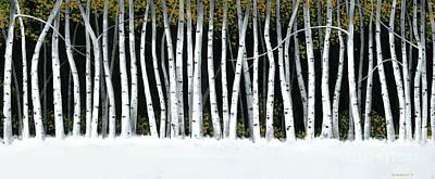 Winter Aspens II Original