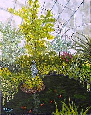 Painting - Winter At Allan Gardens by Diane Arlitt