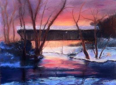 Painting - Winter At Bennett's Mill by Gail Kirtz