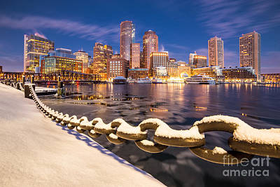 Winter At Boston Fan Pier Art Print