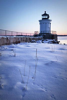 Photograph - Winter At Bug Light - Portland Harbor by Eric Gendron