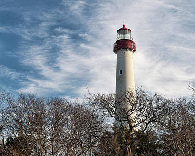 Photograph - Winter At Cape May Light by Kristia Adams