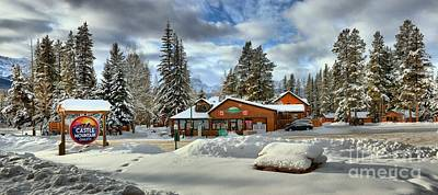 Photograph - Winter At Castle Mountain Resort by Adam Jewell