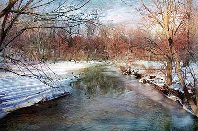 Photograph - Winter At Cooper River by John Rivera