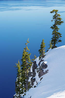 Photograph - Winter At Crater Lake by Kunal Mehra