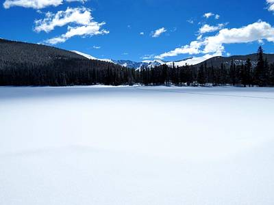 Winter At Echo Lake Art Print by Connor Beekman