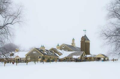 Winter At Erdenheim Farm - Whitemarsh Pa Art Print by Bill Cannon