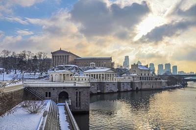 Phillies Art Photograph - Winter At Fairmount Waterworks In Philadelphia by Bill Cannon