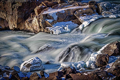 Photograph - Winter At Great Falls #4 by Stuart Litoff