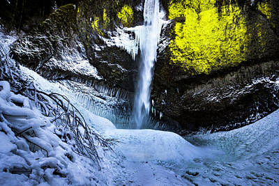 Winter At Latourell Falls Art Print